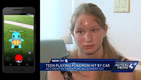 Adolescente fue atropellada por jugar Pokémon Go [VIDEO]