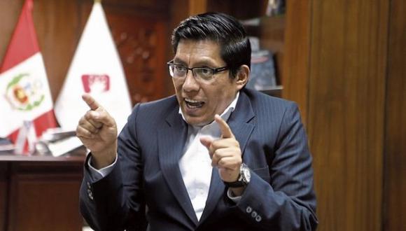 Ministro Vicente Zeballos se pronunció respecto a denuncia de acoso a practicante por un procurador de la Contraloría (Foto: Alonso Chero / El Comercio)
