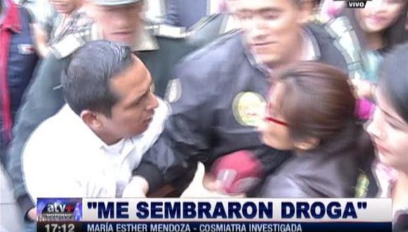 """Breña: cosmiatra asesina acusa a la PNP de """"sembrarle droga"""""""