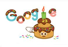 Google celebra con un doodle su aniversario número 23