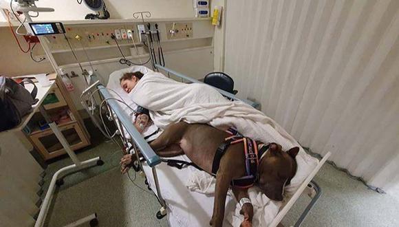 Ruby cuida bastante a Shauna Darcy, quien está hospitalizada por una extraña afección cardíaca.   Foto: @incredibullruby