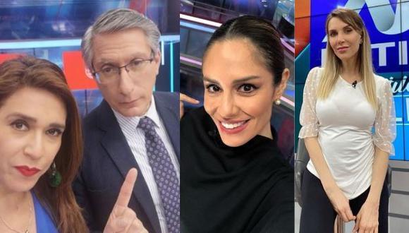 Verónica Linares muestra foto del pasado junto a Federico Salazar, Mávila Huertas y Juliana Oxenford (Foto: Instagram)