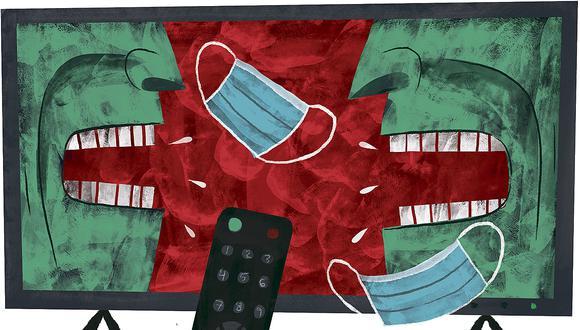 """""""Ahora, el electorado resulta ser menos confiado y se informa, consume noticias, videos, memes, anuncios a través de las redes sociales"""" (Ilustración: Víctor Aguilar Rúa)."""
