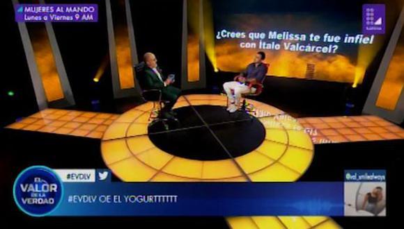 """El valor de la verdad"": Diego Chávarri negó haber sido infiel a Melissa Klug (Foto: Captura de video)"