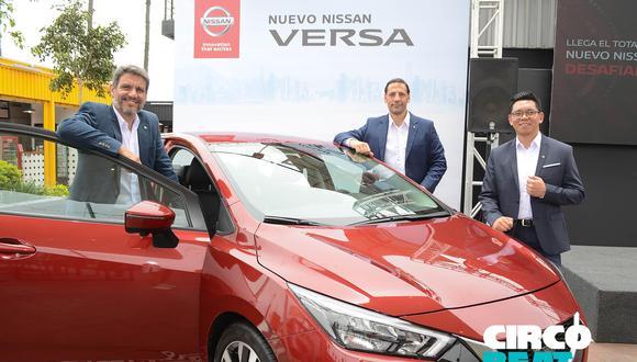 Ruben Quintana, presidente de Nissan Perú; Maximiliano Chomnalez, Director de Marketing de Nissan Perú y Brian Rodriguez, gerente de vehículos de pasajeros.