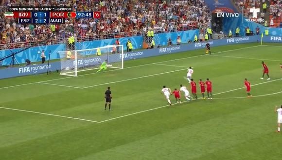 Portugal vs. Irán: 'Los Príncipes de Persia' anotaron de penal en Mundial Rusia 2018. (Foto: Captura de video)