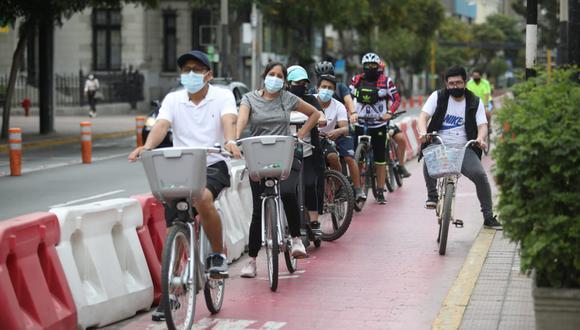 El gobierno aclaró que, durante la cuarentena, sí será posible manejar bicicleta durante una hora como máximo. (Foto: Britanie Arroyo/ @photo.gec)