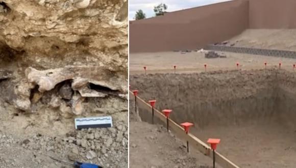 Huesos de miles de años de antigüedad fueron hallados en una excavación para hacer una piscina en Las Vegas. (Foto: KTNV Channel 13 Las Vegas / YouTube)