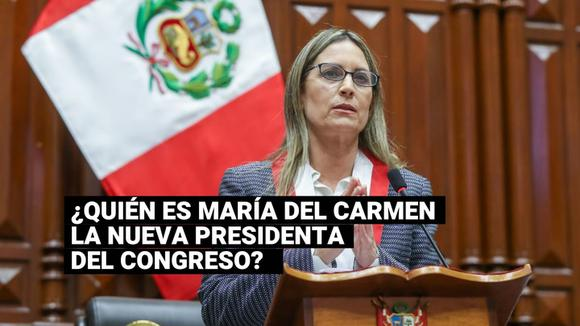 Learn about the political life of María del Carmen Alva, the new president of the Congress