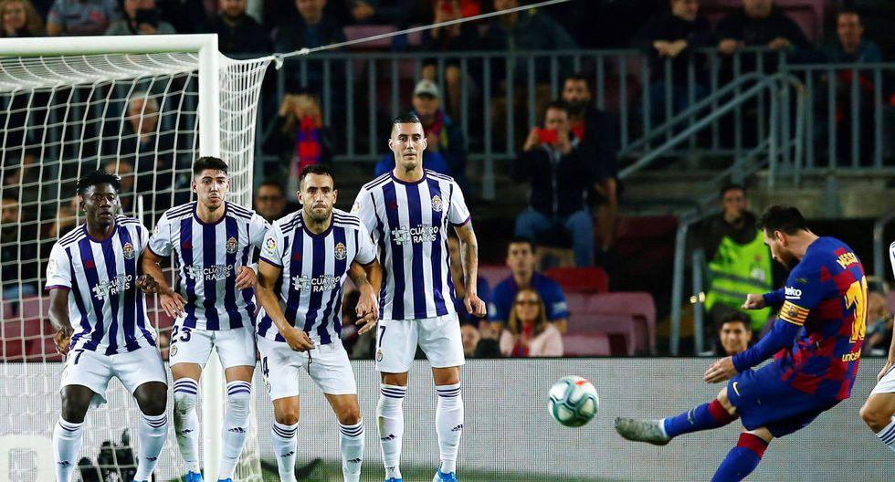 Lionel Messi llegó a los 50 goles de tiro libre en su carrera: 44 con Barcelona y 6 con la selección argentina. (Foto: AP)