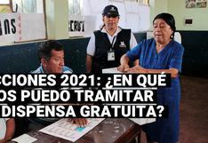 Elecciones 2021: ¿En qué casos puedo tramitar una dispensa electoral gratuitamente?