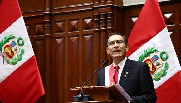 El presidente Martín Vizcarra se presentará ante el Congreso este domingo en una sesión solemne. (Foto: Congreso)