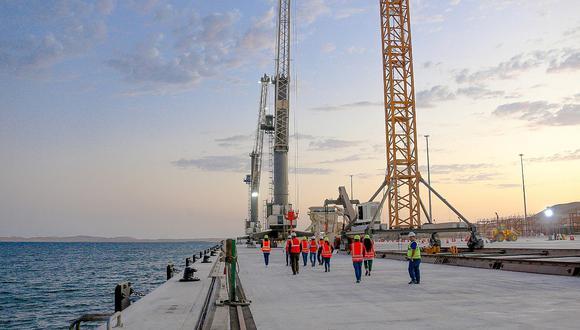 Pisco: Se reinician los trabajos en el Puerto General San Martín de Paracas