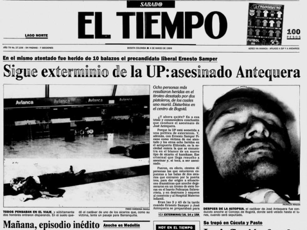 José Antequera fue asesinado en pleno Aeropuerto Eldorado.  Foto: Archivo EL TIEMPO