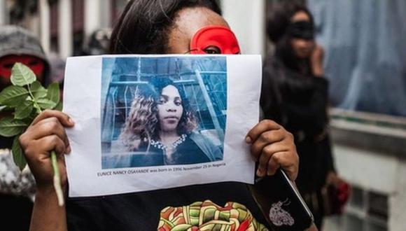 La historia de Eunice Osayande se ha convertido en un símbolo en Bruselas, Bélgica.  (KEVIN VAN DEN PANHUYZEN/BRUZZ)