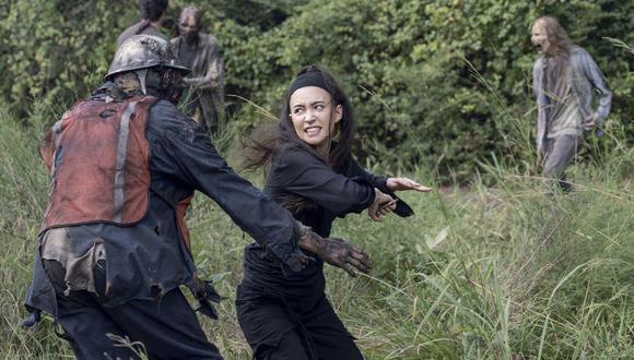"Rosita (Christian Serratos) tuvo la mejor escena en ""The Walking Dead"" 10x08. Foto: Fox."