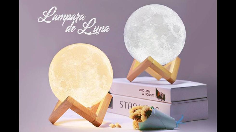 Lampara de luna que cambia de colores. Lo encuentras aquí: https://bit.ly/2Vrxqxe