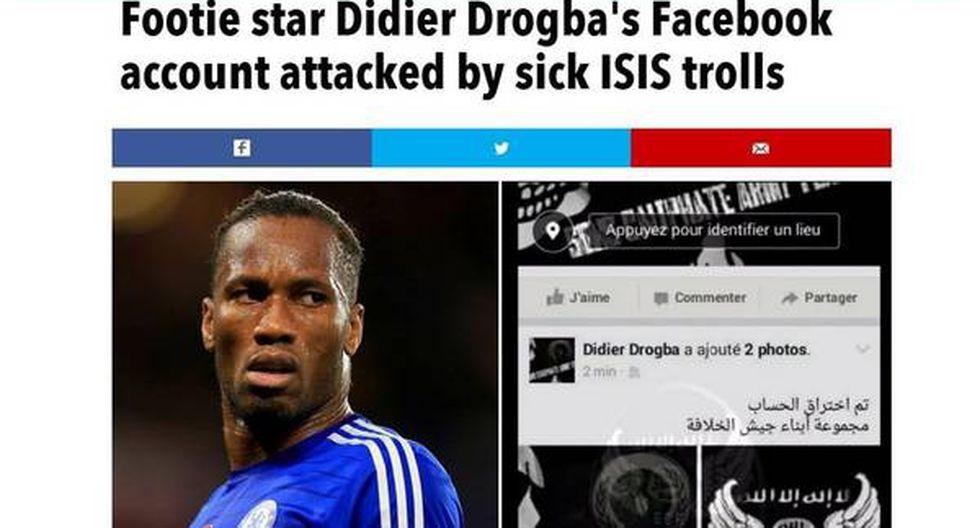 Estado Islámico hackeó cuenta en Facebook de Didier Drogba - 2