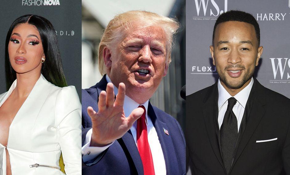 Cardi B y John Legend arremetieron contra Donald Trump en Twitter. (Foto: Agencia)