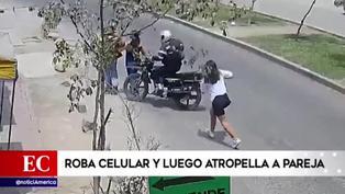 SJL: sujeto robó celular a su víctima y atropelló a pareja tras darse a la fuga