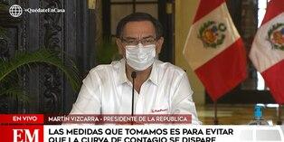 Coronavirus en Perú: Martín Vizcarra brinda balance sobre estado de emergencia utilizando mascarilla