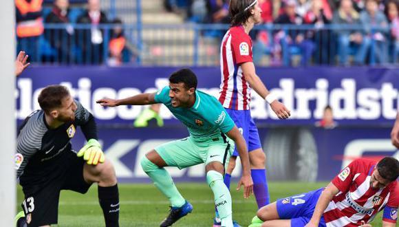 Barcelona: Rafinha abrió marcador ante el Atlético con este gol