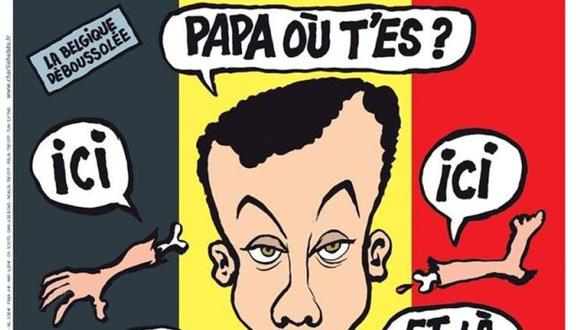 Charlie Hebdo desata polémica por su portada sobre Bruselas