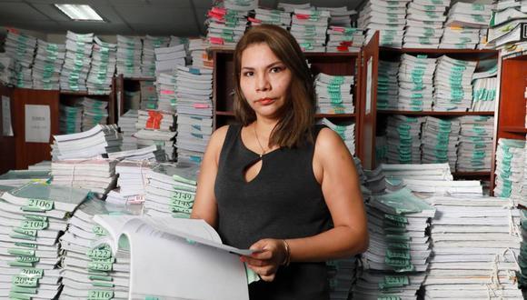 Investigación de la Fiscal Marita Barreto cuenta con más de 5 mil tomos. (Foto: Juan Ponce)