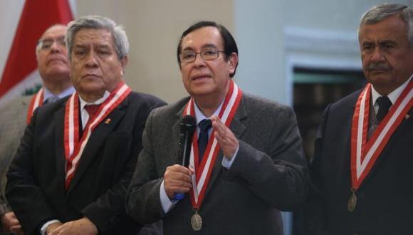 El presidente del Poder Judicial, Víctor Prado, asumirá el cargo hasta diciembre de este año. (Foto: Hugo Pérez/ Archivo El Comercio)