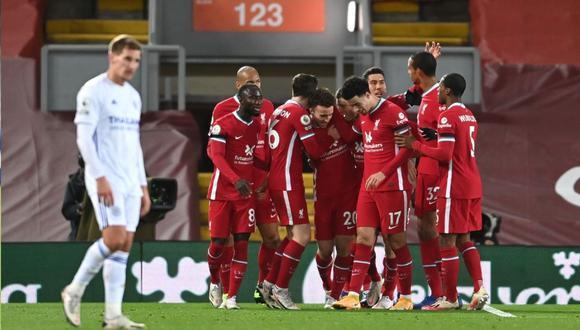 Liverpool vs Leicester City se enfrentaron este domingo por la Premier League. (Foto: Twitter Liverpool)