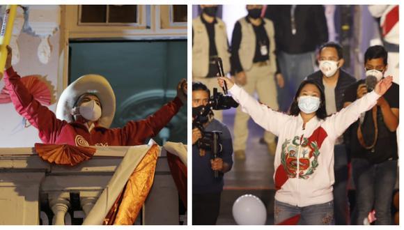 Resultado del conteo rápido de América TV-Ipsos pone ligeramente por delante a Pedro Castillo frente a Keiko Fujimori. (Fotos: El Comercio)
