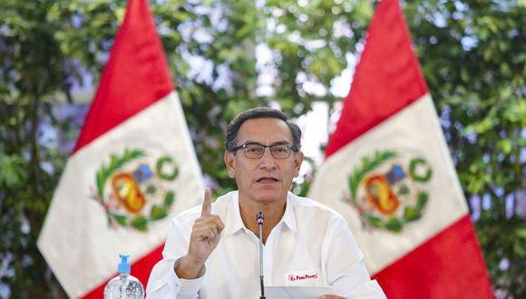 El presidente Martín Vizcarra anunció las nuevas medidas que se desarrollarán durante las siguiente etapa de la cuarentena contra el coronavirus. (Andina/ Presidencia de la República)