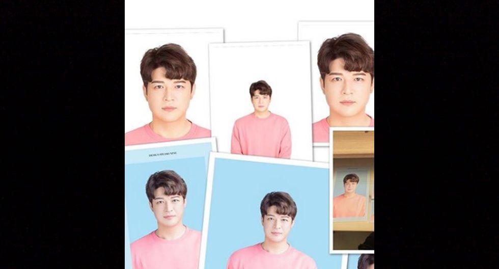En su publicación, el artista surcoreano compartió fotografías de diversos tamaños donde lucía la misma chompa rosa, con su clásico peinado y su rostro increíblemente delgado.