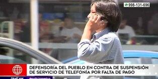 Osiptel: Anuncian corte del servicio de telefonía a deudores