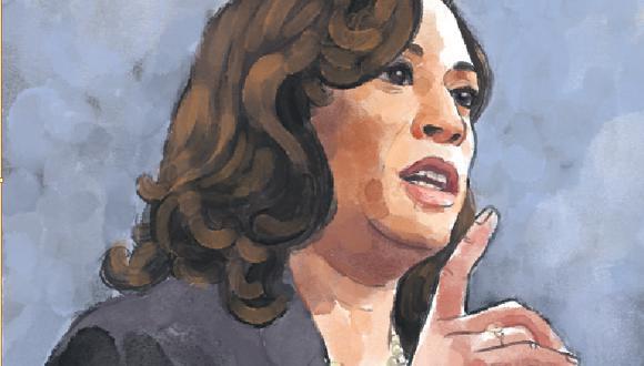 Kamala Harris: la mujer que rompió todos los techos de cristal. (Ilustración: Víctor Aguilar)