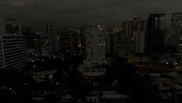 Este fenómeno viene siendo estudiado por los especialistas. Algunas señalan que Sao Paulo quedó a oscuras por los incendios forestales en la Amazonia, mientras que otros apuntan otras causales. (Foto: Twitter).