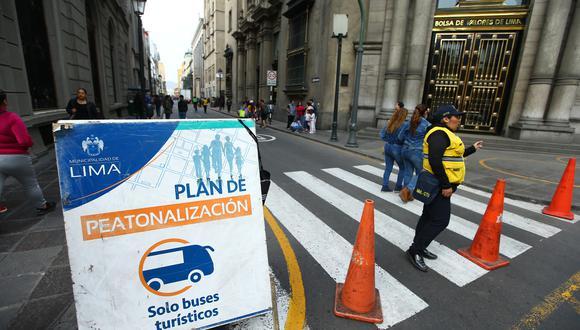 Se prevé que la peatonalización de estas 41 cuadras culmine en nueve meses, antes del aniversario 487 de la ciudad, que se celebrará en enero. (Imagen referencial/ Archivo)