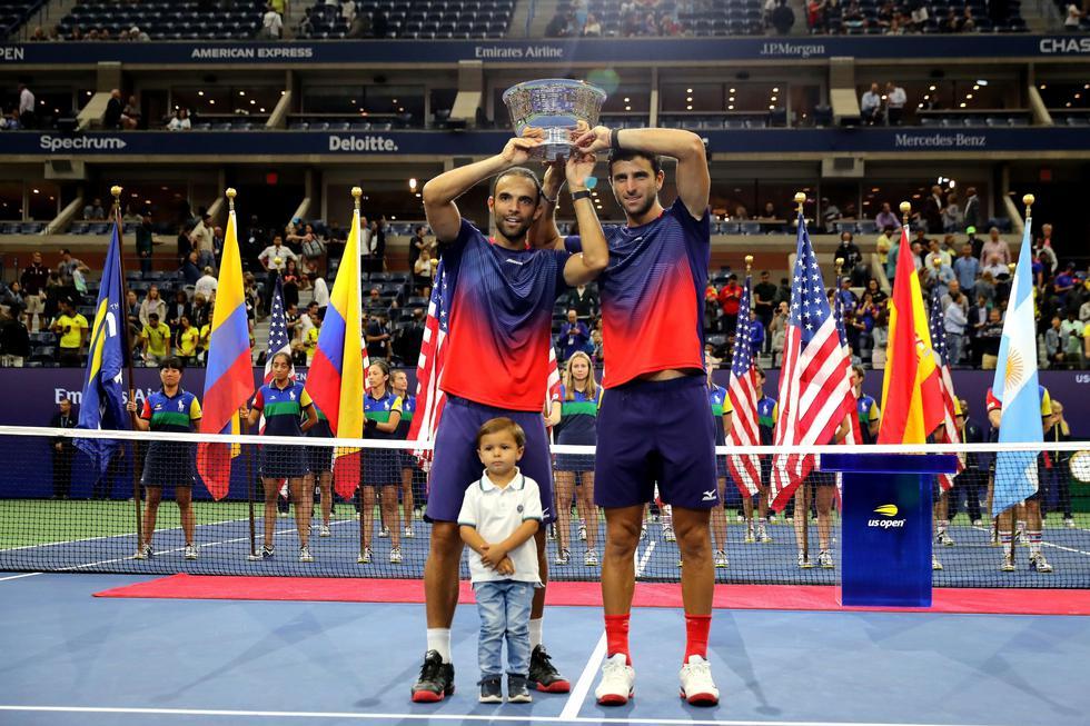 Los colombianos Juan Sebastián Cabal y Robert Farah se coronaron campeones en dobles en el US Open. (Foto: AFP)