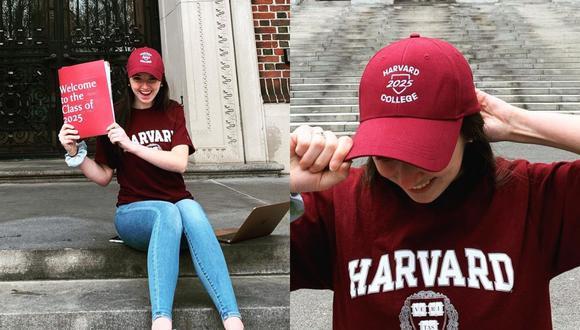 Una joven de Estados Unidos narró en varios videos de TikTok la introducción del escrito con el que fue aceptada en la Universidad de Harvard. | Crédito: @abigail_vmack / Instagram