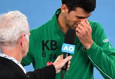 Djokovic se quebró al recordar a Kobe Bryant tras avanzar a las semifinales del Australian Open | VIDEO
