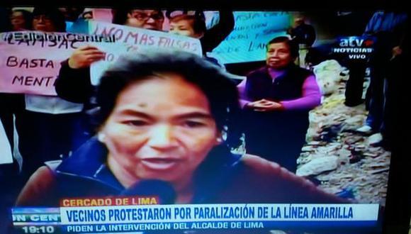 Línea Amarilla: vecinos de Barrios Altos levantan protestas