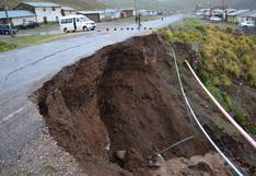 Huancavelica: plataforma de vía colapsa por fuertes lluvias en Castrovirreyna | FOTOS
