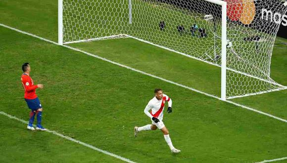 Paolo Guerrero anotó en el recordado 3-0 ante Chile de la Copa América 2019. (Foto: AFP)