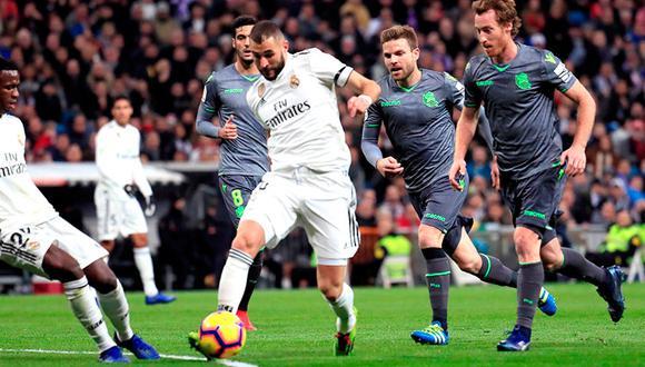 Real Madrid cae de local por 1-0 ante Real Sociedad por la fecha 18 de la Liga Santander. (Foto: EFE)