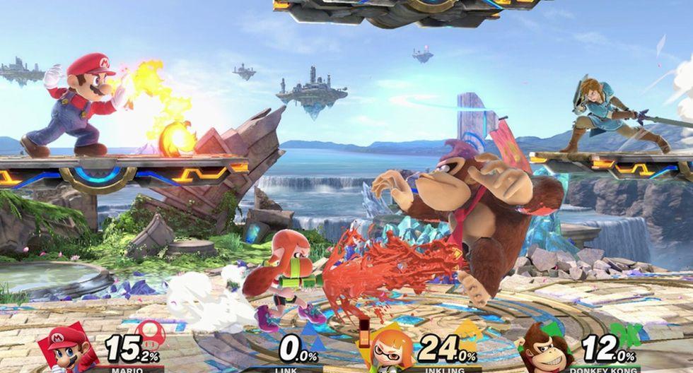 """""""Super Smash Bros. Ultimate"""" permite a varios jugadores enfrentarse en un mismo escenario. (Foto: Nintendo)"""