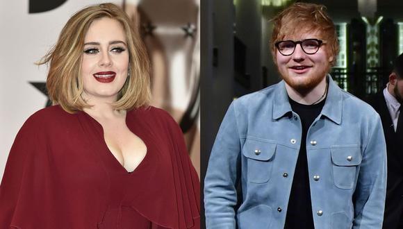 Adele y Ed Sheeran los artistas de mayor éxito comercial en la última década. (Foto: AFP)