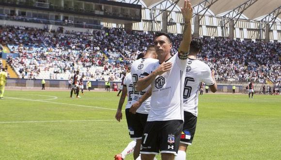 Esteban Paredes es delantero y juega actualmente en Colo Colo de la Primera División de Chile. (Foto: AFP)