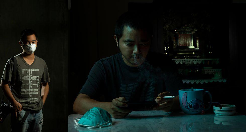 Piko Tamashiro se conecta con su familia por teléfono (Foto: José Rojas Bashe/GEC).