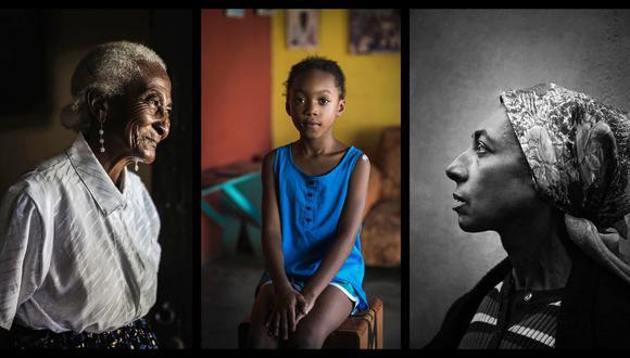 Collage de imágenes tomadas de la exposición Belleza peruana, del artista Yayo López.