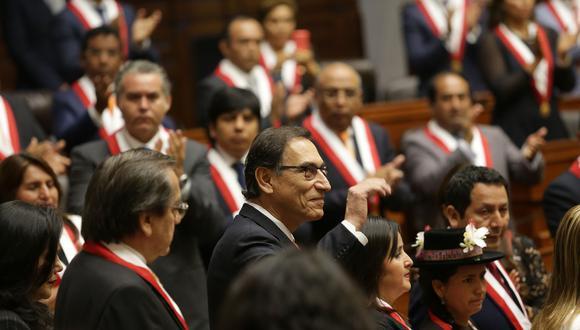 El presidente Martín Vizcarra anunció este domingo 16 de setiembre que se plantearía cuestión de confianza para que se apruebe los proyectos de reforma constitucional. (Foto: Archivo El Comercio)